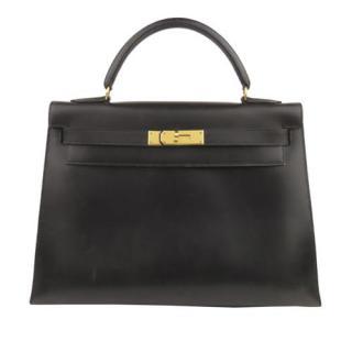 Hermes Black Box Calfskin Kelly Sellier 32 GHW