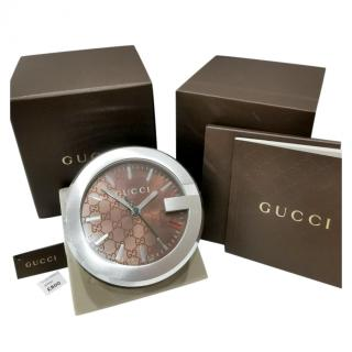 Gucci Guccissima Swiss Quartz Desk/Travel Clock