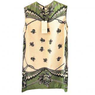 Gucci silk twill sleeveless top