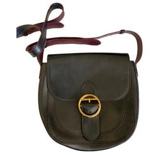 Joseph Black Leather Crossbody Bag
