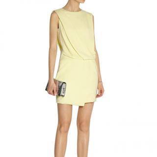 Narciso Rodriguez Lemon Yellow Crepe de Chine Mini Dress