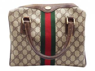 Gucci Vintage CC Web Detailed Tote Bag