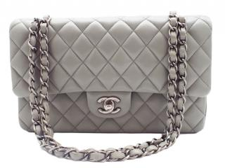 Chanel Pearl Grey Classic Double Flap Bag