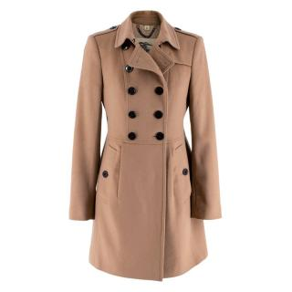 Burberry Camel Cashmere Blend Coat