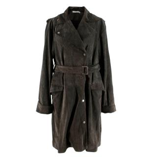 JW Anderson Grey Suede Trench Coat