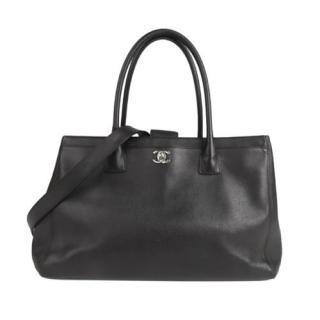 Chanel Black leather Executive Cerf Satchel
