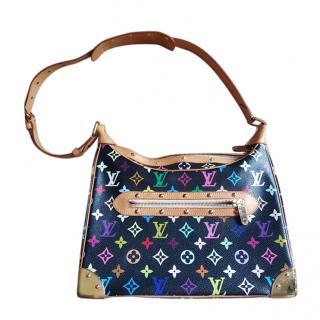 Louis Vuitton vintage multi colour shoulder tote bag