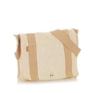 Hermes Cream and tan Fourre Tout Besace PM Bag