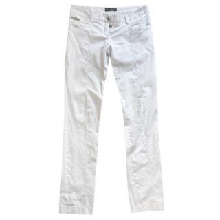Dolce & Gabbana White Straght Leg Jeans