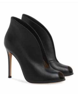 Gianvito Rossi Black Leather Vamp Booties