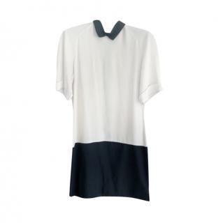 Victoria Victoria Beckham Colourblock Crepe Shift Dress