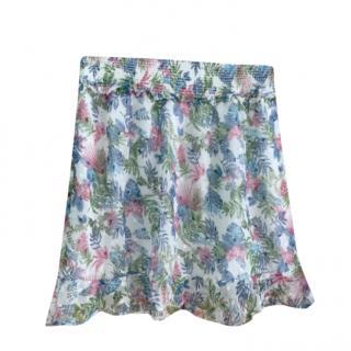 Walter Baker Floral Print Chiffon Skirt