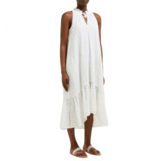 Heidi Klein White Broderie Anglaise Sun Dress
