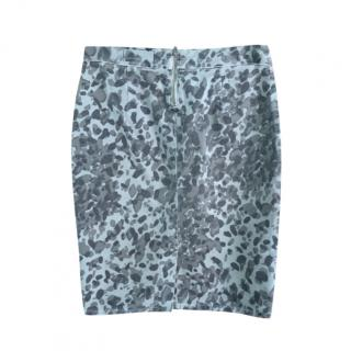 Current/Elliott Geneva Grey Camo Skirt