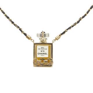 Chanel CC No.19 Perfume Bottle Pendant Necklace