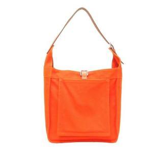 Hermes Orange Canvas & Leather Marwari PM