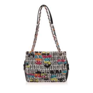 Chanel Tweed Patchwork CC Turnlock Flap Bag