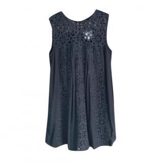 Sea New York black broderie anglaise mini dress