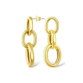 Salvatore Plata Gold Plated Chunky Link Earrings