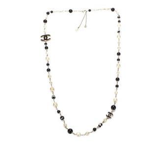 Chanel 55cms CC Faux Pearl Necklace