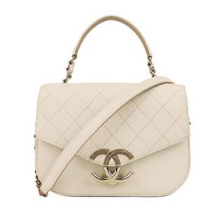 Chanel Caviar Calfskin CC Top Handle Crossbody Bag