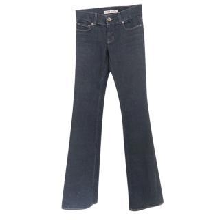 J Brand Dark Indigo Flared Jeans