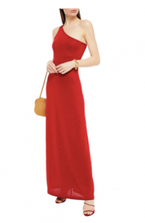 Missoni Red Knit One Shoulder Gown