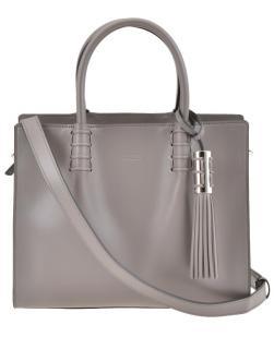 Tod's Grey Leather Medium Lady Moc Tote Bag