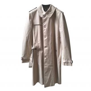 Burberry Men's Beige Classic Long Trench Coat