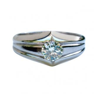 Bespoke Diamond Solitaire Signet Ring