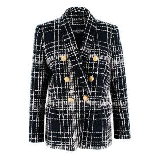 Balmain Black & White Tweed Tailored Jacket