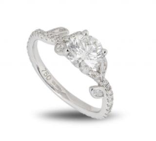Bespoke 18ct White Gold Brilliant Cut Diamond Ring
