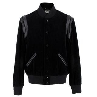 Saint Laurent Black Corduroy Teddy Jacket