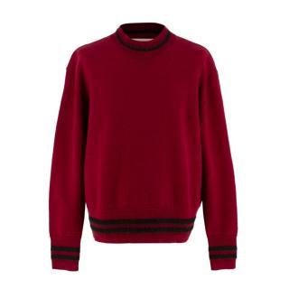 Marni Burgundy Wool Knit Sweater