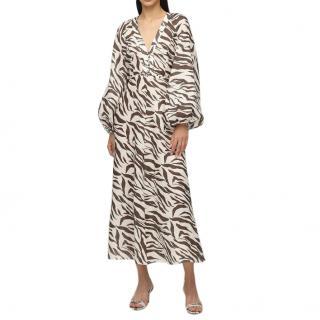 Zimmermann Zebra Print Linen Summer Dress