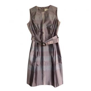 Burberry Lilac Check Sleeveless Dress