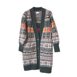 Chanel Paris/Edinburgh Cashmere Intarsia Cardigan