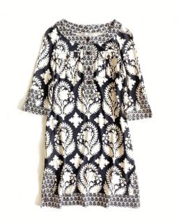 DVF Black/Cream Floral Print Dress