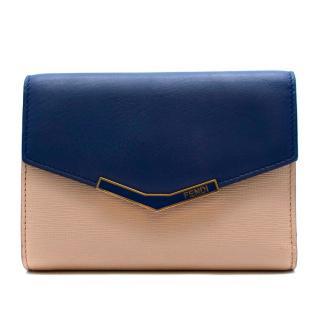 Fendi Pink & Blue Leather Wallet