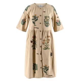 Meadows Flower Embroidery Linien Tudor Rose Dress