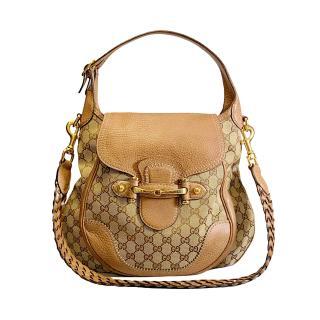 Gucci Pelham Leather Trim Supreme Canvas Shoulder Bag