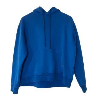 Balenciaga Blue Cropped Hoodie
