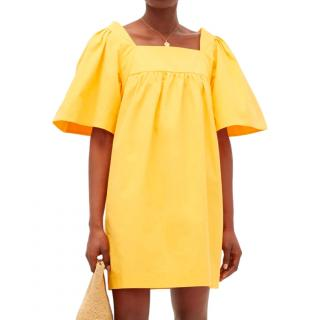 Three Graces London Yellow Sofia Mini Dress