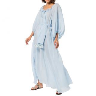 Three Graces London Blue Honeymoon Ramie Dress