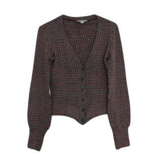 M Missoni Button Down Wool Blend Cardigan