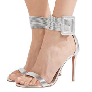 Aquazzura Silver Strappy Casablanca Sandals