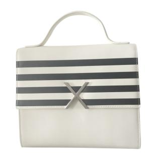 Each x Other Striped Two-Tone Top Handle Bag