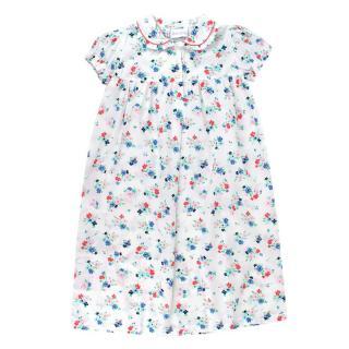 Rachel Riley White Floral Cotton Dress