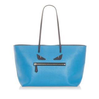 Fendi Blue Leather Medium Monster Shoulder Bag