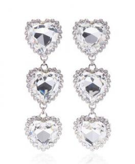 Alessandra Rich Heart Drop Earrings